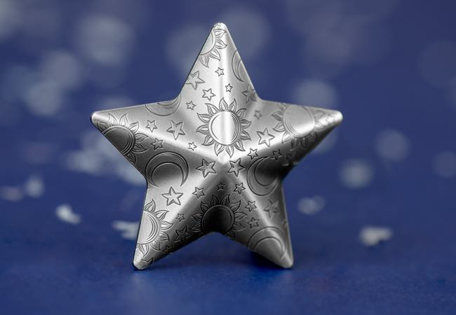 LS Pilou 2018 Twinkling Star Antique Silver 5 dollar Coin Lifestyle - It's beginning to look a lot like Christmas…