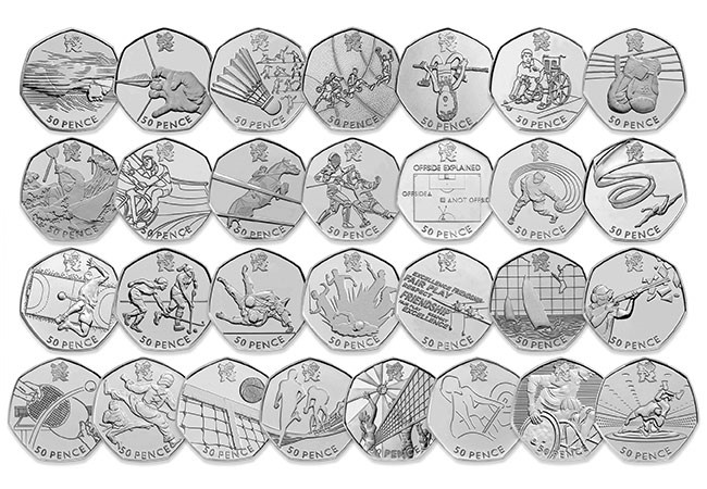Change Checker Olympic 50p Coin Pack Collection Coins - My TOP FIVE coins of the decade