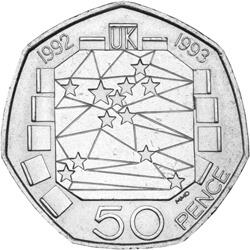 Lge UK Presidency 50p - Britain in Europe - a story of debates, delays and COLLECTABLE 50ps!