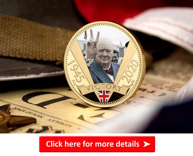 ls 2020 churchil gold plated photo detail coin lifestyle 2 1 - Our top VE Day 75th Anniversary Coins revealed in special new show
