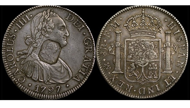 1797 King George III Counter Stamped Spanish Dollar 1 - Celebrating the most iconic coins of King George III's reign