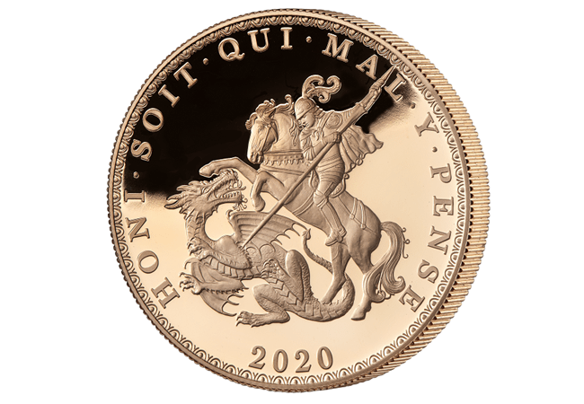 5 Sovereign EIC 2020 Reverse - Celebrating the most iconic coins of King George III's reign