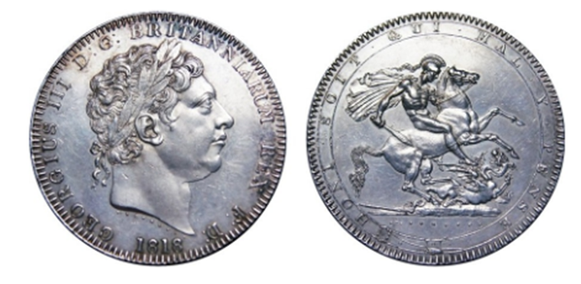 George III Silver 1818 Crown  - Celebrating the most iconic coins of King George III's reign