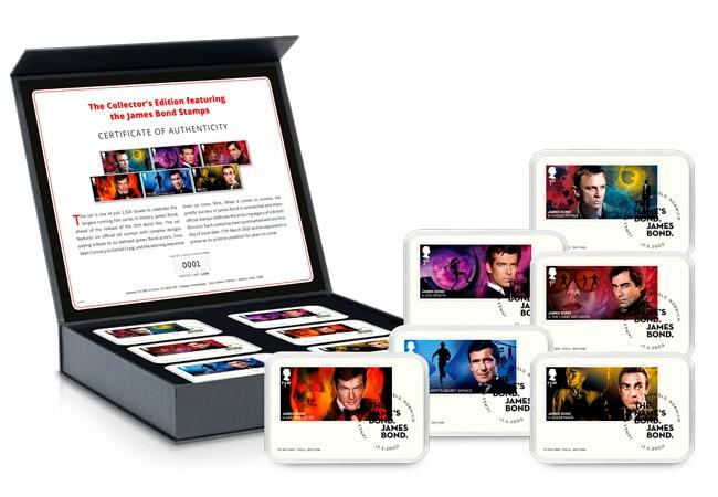 James Bond Stamps Collectors Edition fill box with capsules - FIRST LOOK: NEW James Bond Stamps just revealed!