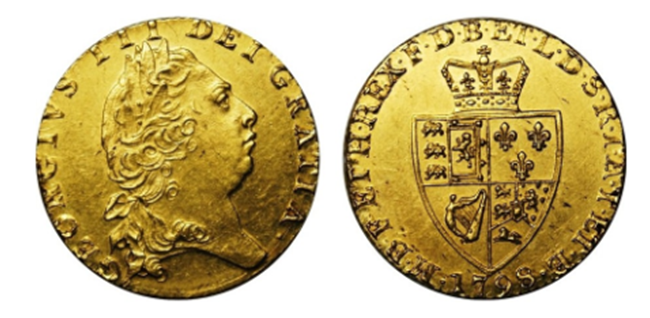 King George III 1798 Spade Guinea - Celebrating the most iconic coins of King George III's reign