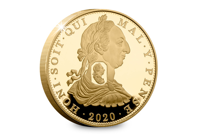 LS 2019 St Helena Double Sovereign gold proof coin Rev - Celebrating the most iconic coins of King George III's reign