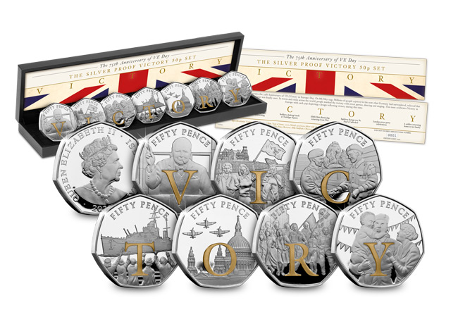 LS 2020 IOM Silver Proof 50p Victory Product all - SEVEN brand new Victory 50p Coins revealed!
