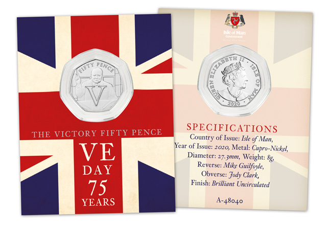 LS IOM BU CuNi Rupert 50p Victory Churchill single pack both sides - SEVEN brand new Victory 50p Coins revealed!