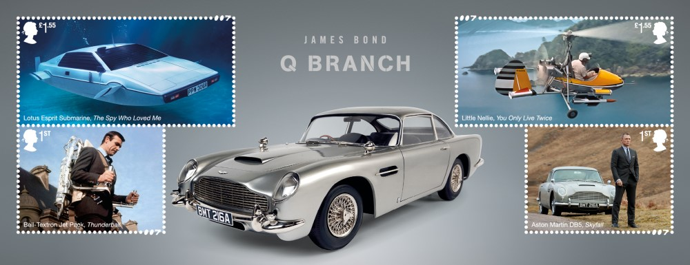Q Branch Minisheet - FIRST LOOK: NEW James Bond Stamps just revealed!