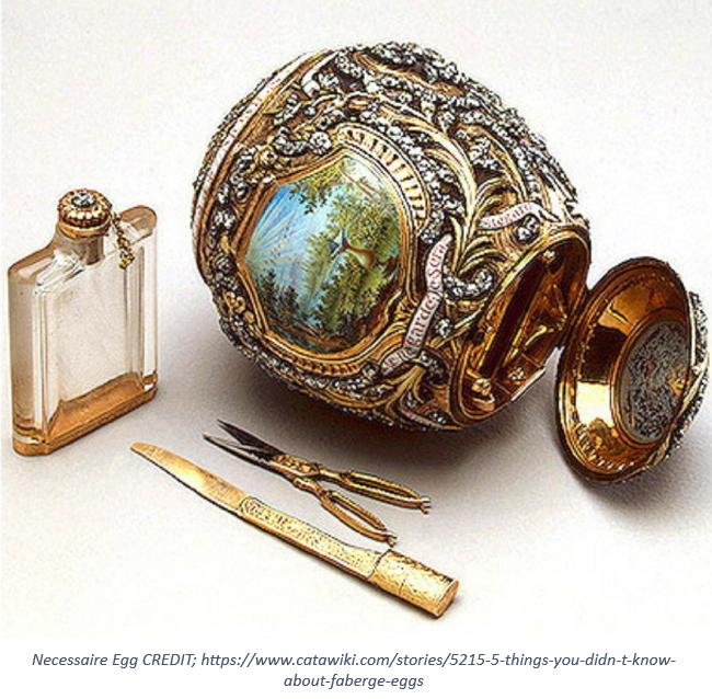 3 WITH CREDIT 1 - An 'egg'cellent piece of craftsmanship from The House of Fabergé …