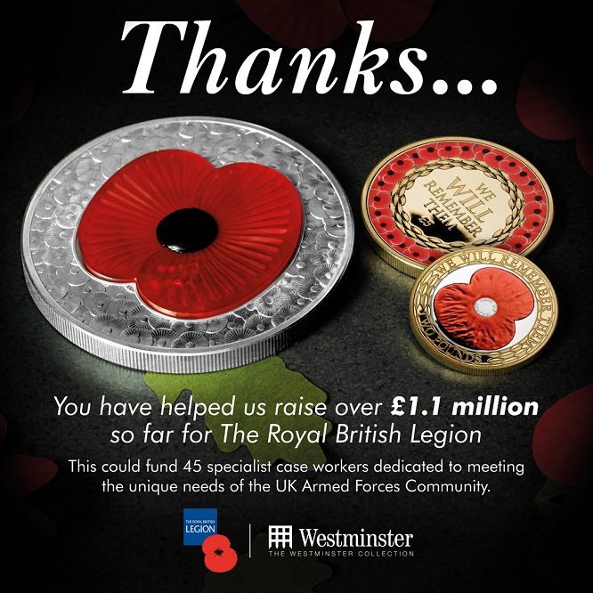 AT RBL 1 1 Million Raised Social 1080x1080 V2 blog image - The Westminster Collection raises £1.1 Million for The Royal British Legion!