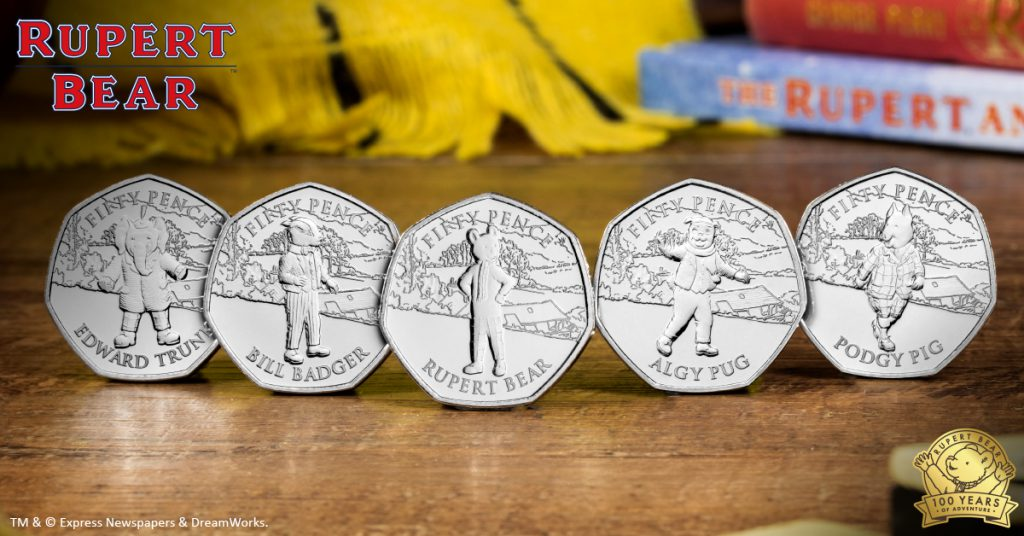 DN rupert bear 50p coins facebook banners 7 updated 1024x536 - Rupert Bear features on BRAND NEW 50p! New designs revealed...