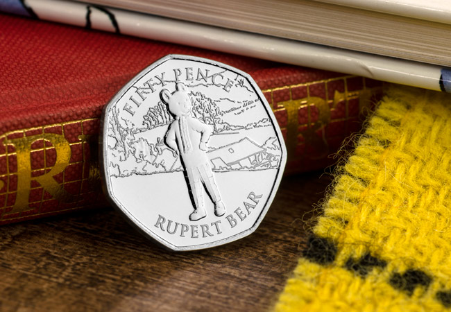 LS IOM BU CuNi Rupert 50p Lifestyle - Rupert Bear features on BRAND NEW 50p! New designs revealed...