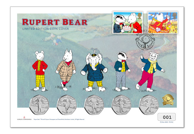 Rupert Bear Covers Ultimate PNC product images full cover - Rupert Bear features on BRAND NEW 50p! New designs revealed...