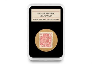 dn spanish civil war emergency money capsule product images 1 300x208 - Imagine using a cup, a stamp, or cardboard as a coin...