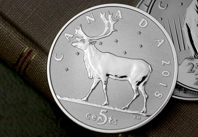 3 ls canada 2018 coin lore caribou 5 cents lifestyle detail - The NEVER-SEEN-BEFORE coins of Canada's numismatic past…