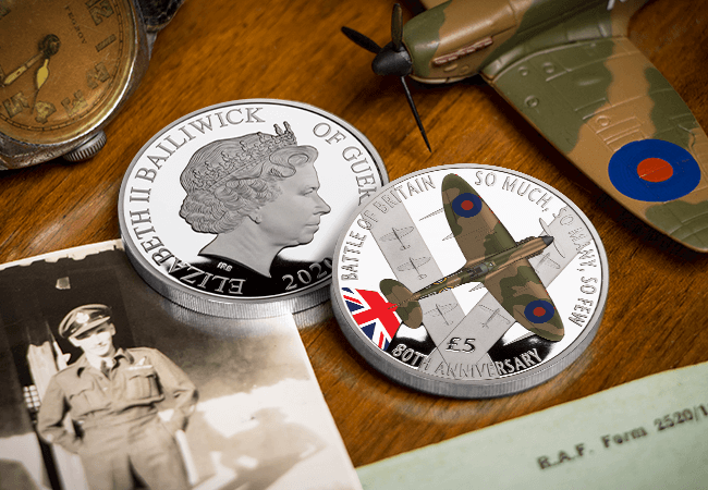 BoB SILVER with Colour Lifestyle 1 - First Look: New coins issued to mark the 80th Anniversary of the Battle of Britain…