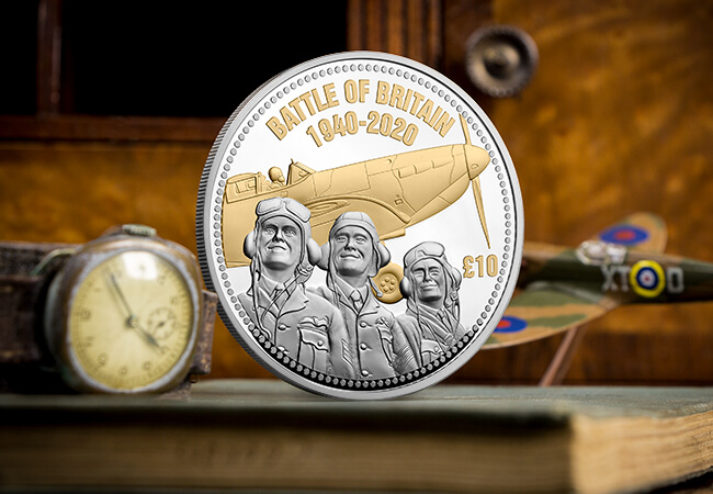 LS Jersey BOB 80th anniversary £10 5oz Silver Proof with Gold Lifestyle - First Look: New coins issued to mark the 80th Anniversary of the Battle of Britain…