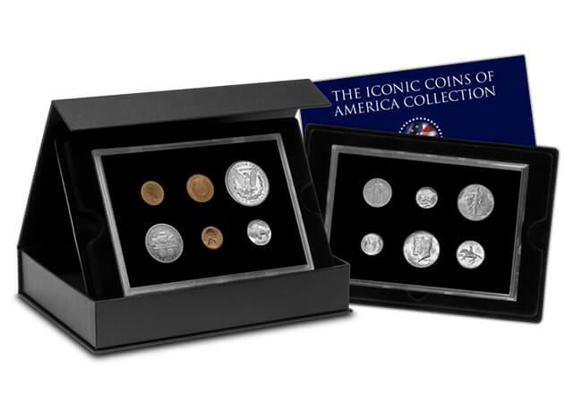 iconic coins of america collection box with cert - Unboxing 12 of the most iconic American coins
