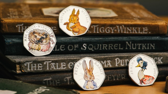 2016 coins - The Tale of Peter Rabbit and the 50p