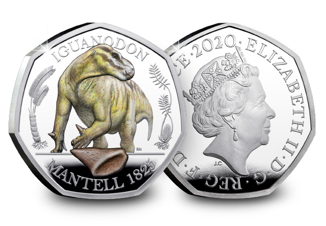 DN 2020 Iguanodon BU Silver Colour 50p coin product images 12 - Uncovering the British discoveries that inspired the Dinosaur 50p coins