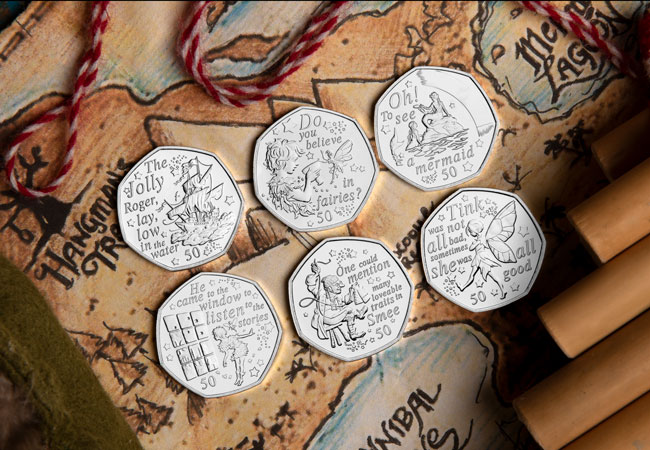 IOM BU CuNi 50p Peter Pan full Set Lifestyle 1 - Are you ready to return to Neverland? First look at the BRAND NEW Peter Pan 50p Coins…