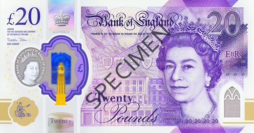 polymer 20 specimen front 1 1 - The secrets hidden in Britain's most secure banknote yet