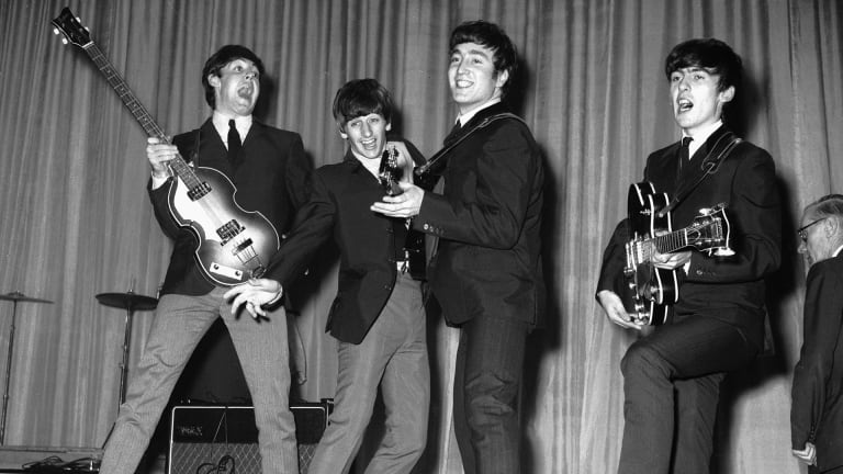 the beatles rehearse for that nights royal variety performance at the prince of wales theatre 4th november 1963 the queen mother will attend photo by central press hulton archive getty image - Six icons we owe to the Sixties