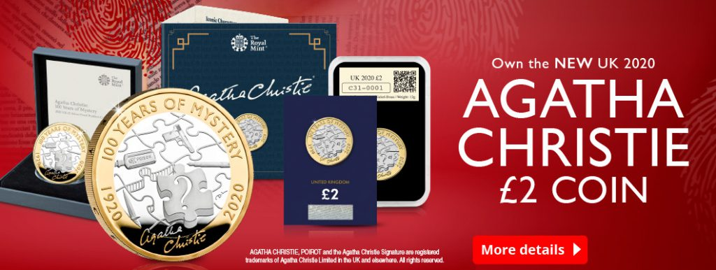 DN 2020 Agatha Christie 100 Years of Mystery £2 range homepage banner 1 1024x386 - It would be criminal not to add this NEW UK £2 coin to your collection...