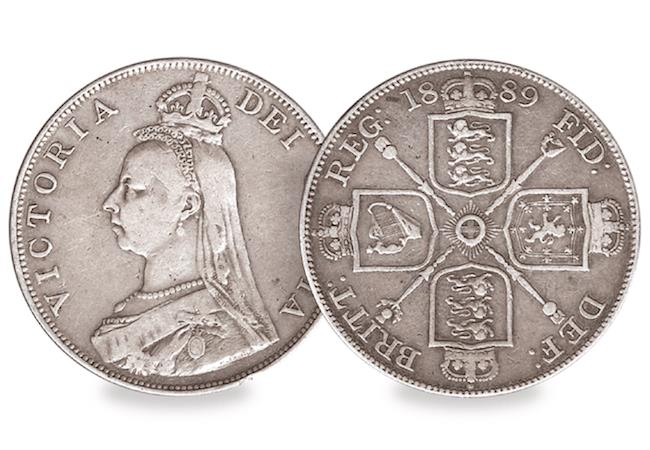 queen victoria double florin obverse reverse - EXPERT GUIDE: building a historic coin collection