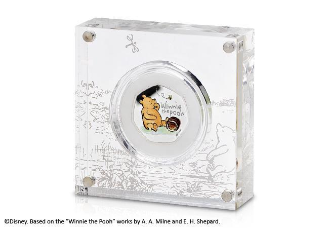 uk 2020 winnie the pooh silver proof 50p product page images perspex box 2 - Introducing the BRAND NEW Winnie the Pooh 50p Coin Range