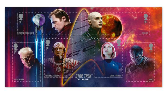 2020 star trek stamps definitive edition A4 minisheet edited - Introducing the brand new Star Trek stamps! Boldly collect where no UK collector has collected before!