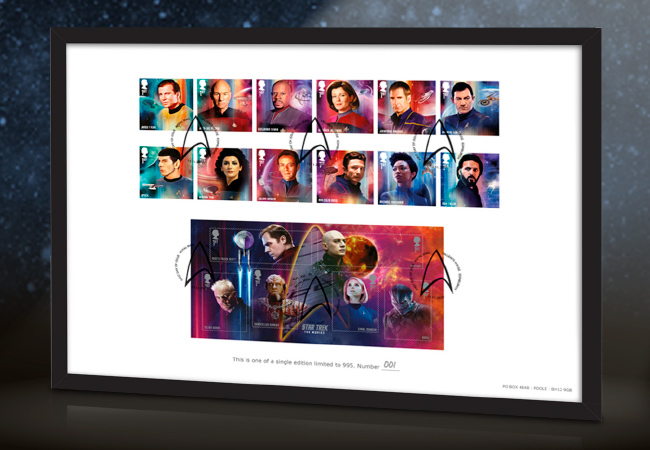 2020 star trek stamps definitive edition in frame - Introducing the brand new Star Trek stamps! Boldly collect where no UK collector has collected before!