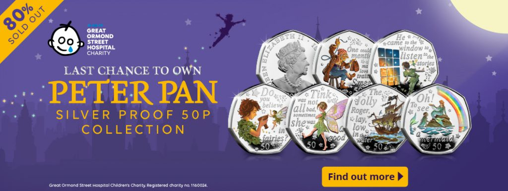 DN 2020 peter pan silver 50p coin reveal homepage silver set button 80 Flash 1024x386 - OVER 80% SOLD: Unboxing the 2020 Peter Pan Silver Proof 50p set