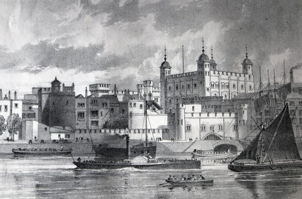 Tower of London from London Past and Present vol2 1 1024x675 - Tales from The Tower's maximum security Mint – where making coins was a dangerous business