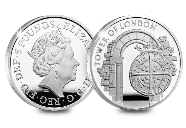 UK 2020 The Royal Mint Silver Proof 5 Pound Coin Product Images Coin Obverse Reverse - Tales from The Tower's maximum security Mint – where making coins was a dangerous business