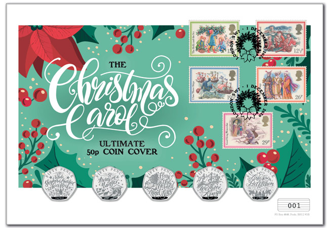 AT Christmas Carol PNCs Product Images 2 - FIVE BRAND NEW Christmas Carol 50p COINS REVEALED