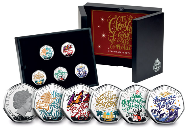 Christmas Carol Silver Proof 50p Set - FIVE BRAND NEW Christmas Carol 50p COINS REVEALED