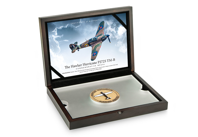 Hurricane Medal BOX - The day a Hawker Hurricane SAVED Buckingham Palace