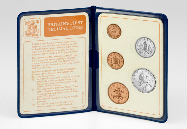 Britains first decimal coins blue pack inside - Decimalisation: Your top five questions answered