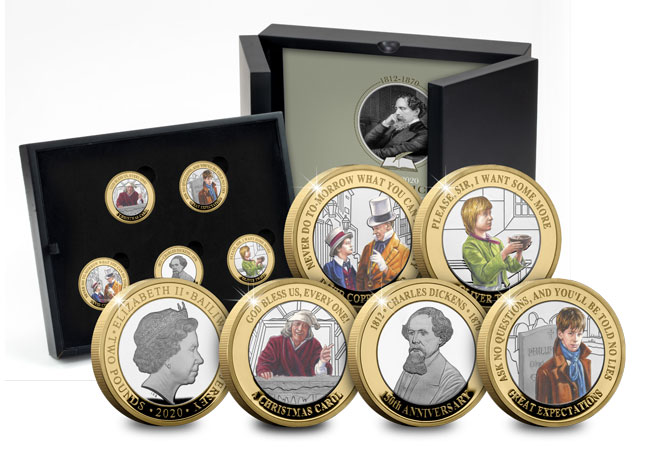 Charles Dickens 2 prod image silver set main - The BRAND NEW £2 coins in honour of literary legend Charles Dickens…