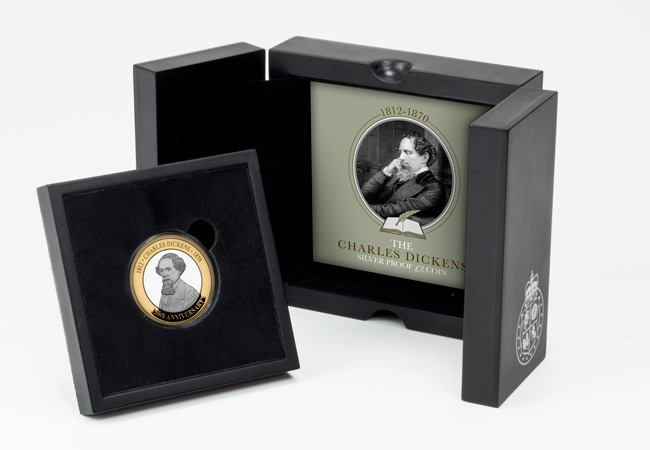 Charles Dickens 2 prod image silver single box - The BRAND NEW £2 coins in honour of literary legend Charles Dickens…