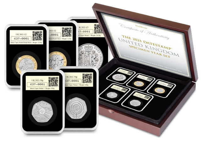 DN DateStamp UK 2021 Annual Specimen Set Cert Product Images 14 copy - FIRST LOOK! Brand new UK commemorative coins released for 2021