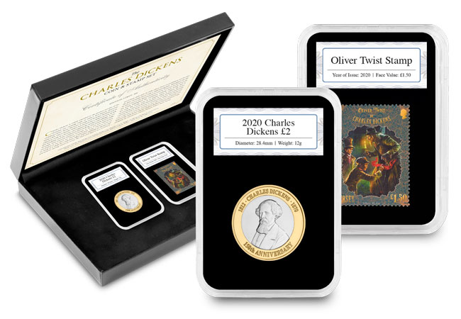 Dickens stamp coin set 1 - The BRAND NEW £2 coins in honour of literary legend Charles Dickens…