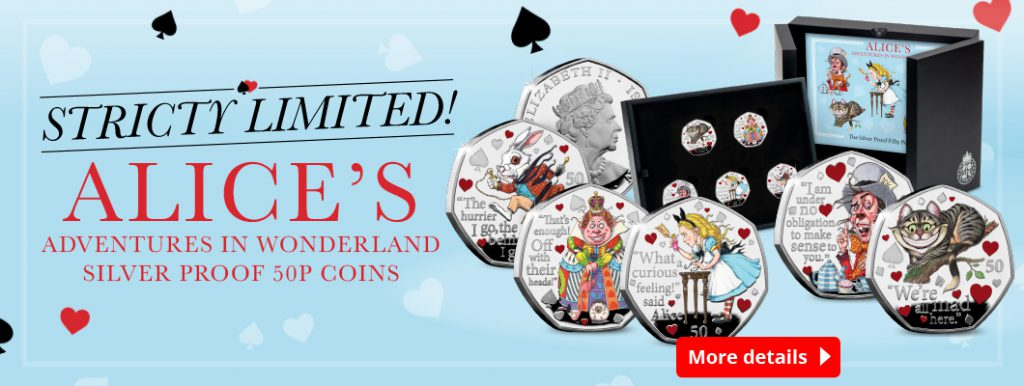 DN 2021 IOM BU Silver colour Gold 50p Alice in wonderland homepage banners 6 1024x386 - Unboxing Alice's Adventures in Wonderland Silver Proof 50ps