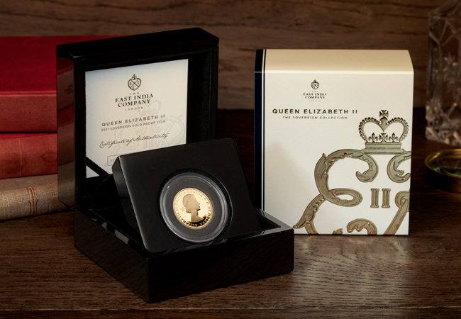 LS EIC Queens 95th Birthday Sovereign packaging lifestyle - The most important gold coin in the world right now