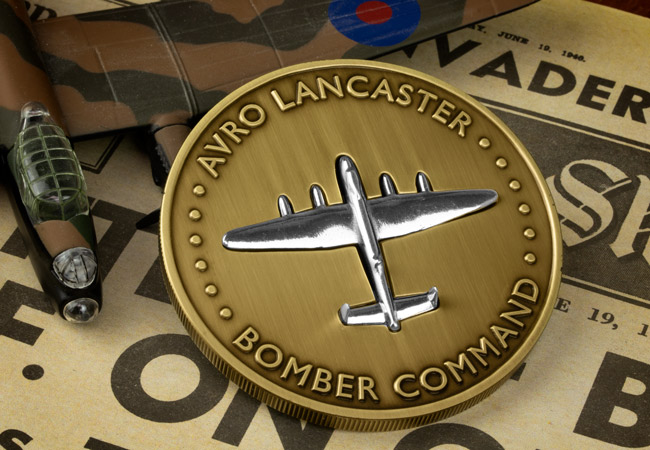 The Avro Lancaster PA474 Commemorative Product Images Lifestyle Commemorative Front - Unboxing a medal crafted from an Avro Lancaster!