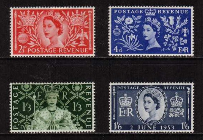 The GB 1953 Coronation Stamps - The Top 5 Historic Queen Elizabeth II Commemoratives...