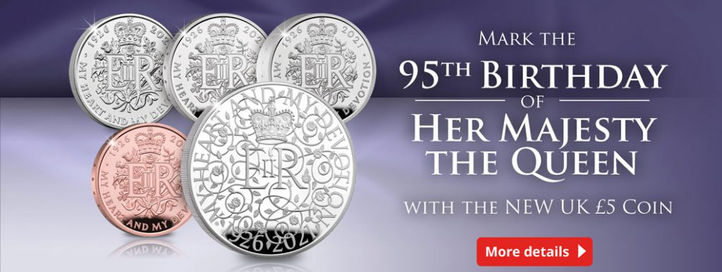 UK 2021 Queens 95th Royal Mint 5 Pound Coin Homepage Banner 1024x386 - Find out why this NEW Royal UK coin has TWO designs…